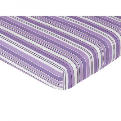 JoJo Designs Kaylee Crib Sheet - Stripe Print