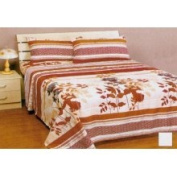 Store51 Autumn Leaves Sheet Set - Fall Stripes Twin Bed Sheets