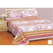 Store51 Floral Circles Sheet Set - Pink Flowers Twin Bed Sheets