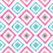 Caden Lane Ikat Diamond Pink Sheet