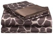 Divatex 102398G Royal Opulance Giraffe Brown Ivory Polyester Sheet Set