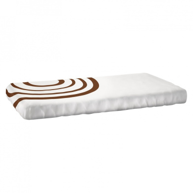 Organic Fitted Ripple Crib Sheet Nook Sleep Systems Colour: Bark Brown