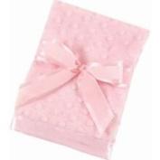 Bearington Baby - Small Dottie Snuggle Blanket Pink