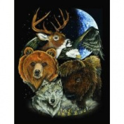 Multi Animal Fleece Throw Blanket