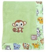 Trend-Lab 102069 Framed Chibi Zoo Receiving Blanket