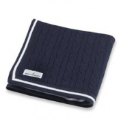 Nautica Navy Cable Knit Blanket