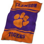 Logo Blanket. Clemson Ultrasoft Blanket 123-27