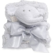 Barefoot Dreams Pocket Buddies & Blanket Blue/ Cream Bamboo One Size