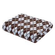 Argyle Blue and Chocolate Blanket by Elegant Baby, 100% Cotton