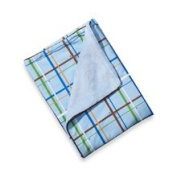 Caden Lane Boy Plaid Blanket with Piped Edging