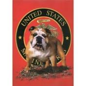 Marines Bulldog Queen Mink Blanket