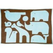 DwellStudio Animals Chocolate Graphic Knit Blanket