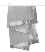 Little Giraffe Chenille Blanket, 70cm X 90cm , Silver