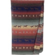 Wooded River Western Bedding Mustang Horse Throw Blanket