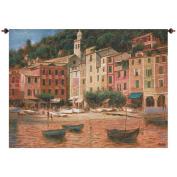 Manual Woodworkers & Weavers Portofino Scene Tapestry