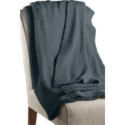 Barefoot Dreams 'CozyChic' Ribbed Throw Slate Blue One Size