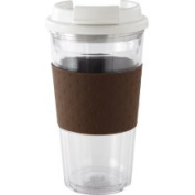 Copco Brew View Tumbler 470ml with Brown Grip