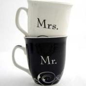 Dicksons Inc MUG-168 Mr & Mrs Wedding Mugs