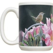 Fiddlers Elbow FEC991 Wren & Pink Flowers 440ml Mug