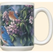 Fiddlers Elbow FEC993 Springtime Jewel Bluebirds 440ml Mug