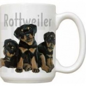 Fiddler's Elbow Rottweiler Puppy Puppies Large 440ml Ceramic Mug
