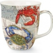 Cape Shore Coastal Blue Crab Feast Red Crab Fiesta Coffee Latte Tea Harbour Mug