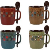 Mr. Coffee 380ml Stoneware Mug and Spoon Set - 78757.08