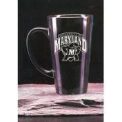 Maryland Terrapins 470ml Deep Etched Black Ceramic Java Mug Campus Crystal