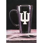 Indiana Hoosiers 470ml Deep Etched Black Ceramic Java Mug Campus Crystal