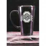 Ohio State Buckeyes 470ml Deep Etched Black Ceramic Java Mug Campus Crystal