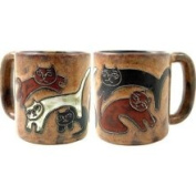 Creative Structures One 1 Mara Stoneware Collection - 470ml Coffee or Tea Cup Collectible Dinner Mug - Kitten Kitty Cat Design