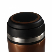 Timolino VMT-35TTMBW 350ml TeaGo Vacuum Mug Amber Brown