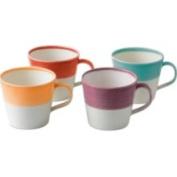 Royal Doulton 1815 Tapa's Collection - Set of 4 - 8.9cm Bright Mugs