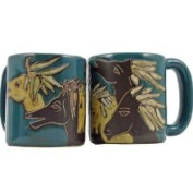 Creative Structures Set of Two 2 Mara Stoneware Collection - 470ml Coffee or Tea Cup Collectible Dinner Mugs - Horse