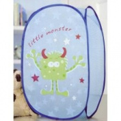 Little Monster Storage Basket - Pop Up Mesh Laundry Bin - Toy Basket