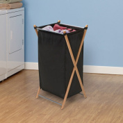 Whitney Design 6540 X-Frame Bamboo Finish Collapsable Hamper