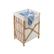 Richards Homewares Bamboo / Cotton 1 Compartment Laundry Hamper