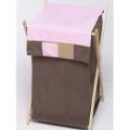 JoJo Designs Soho Pink and Brown Laundry Hamper