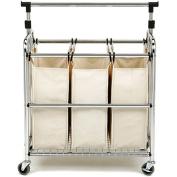 Seville 3-bag Laundry Sorter with Hanger Bar
