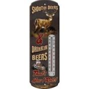 River's Edge Tin Thermometer - Shootin' Deers