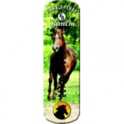 Rivers Edge Products Large Horse Tin Thermometer Multi-Coloured
