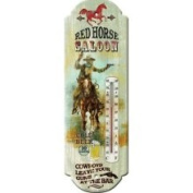 Rivers Edge 1324 Red Horse Saloon Nostalgic Tin Thermometer