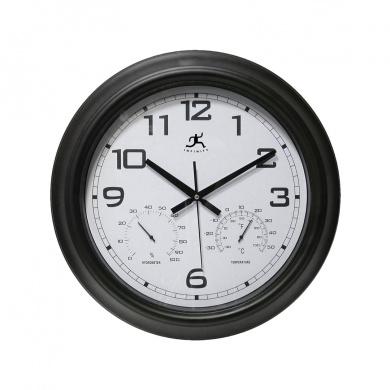 Infinity Instruments 14109BK-3177 The SEER Indoor/Outdoor Wall Clock