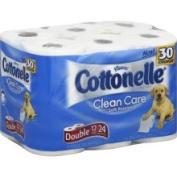 Cottonelle Clean Care Toilet Paper, Double Roll, 1-Ply - 12 rolls