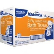 Marathon Jumbo Roll Bath Tissue - 6 Rolls - Jumbo Roll Tissue