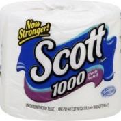 Scott 1000 Bathroom Tissue, 1-Ply, Unscented