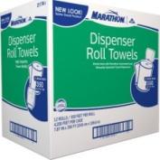 Marathon Dispenser Roll Towels, 12 Rolls - Dispenser Roll 2117401