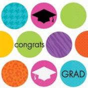 Colourful Commencement Graduation Beverage Napkins