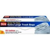 Presto Products Do It Best Clear Trash Bag, 10ct 124.9lTrash Bag, Mfr