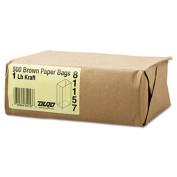 1# Paper Bag, 30lb Kraft, Brown, 3 1/2 x 6 7/8, 500/Pack